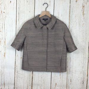 Ann Taylor Snap Button Short Sleeve Jacket